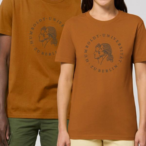 Unisex-T-Shirt Siegel mit schwarzem Druck