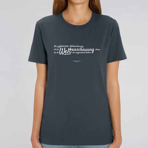 """T-Shirt """"Weltanschauung"""" - Zitat von Alexander von Humboldt"""