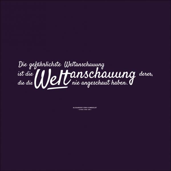 """Damen-T-Shirt """"Weltanschauung"""""""