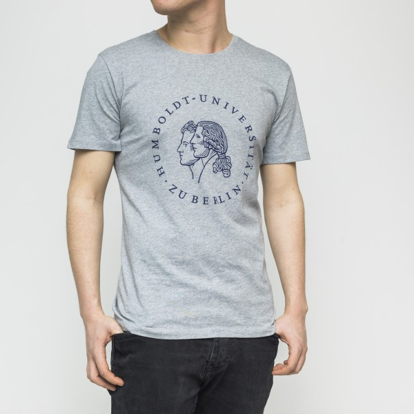 Herren-T-Shirt Siegel mit blauem Druck