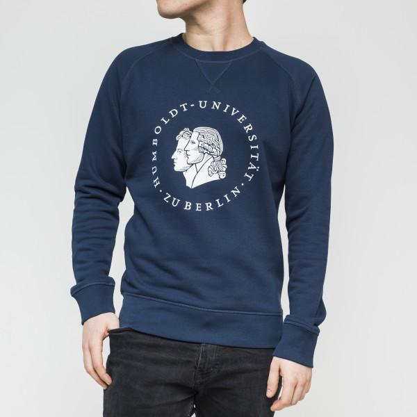 Herren-Sweatshirt Siegel mit weißem Druck