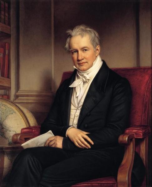 Postkarte Porträt Alexander von Humboldt