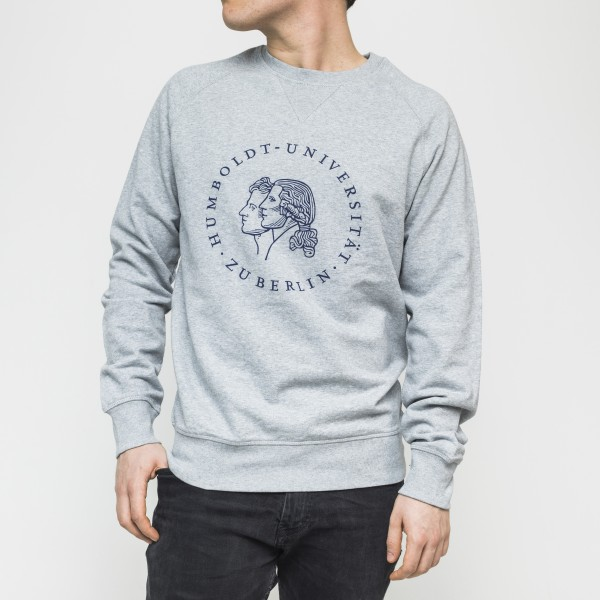Herren-Sweatshirt Siegel mit blauem Druck
