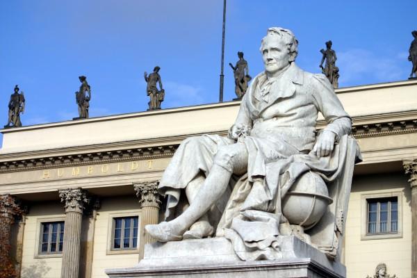 Postkarte Denkmal Alexander von Humboldt