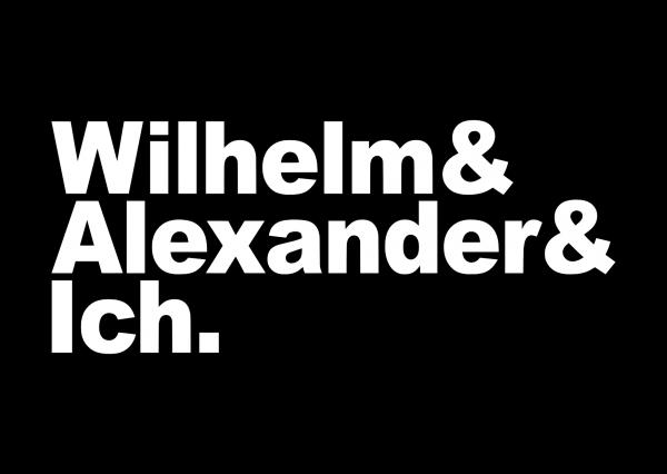 Postkarte Wilhelm & Alexander & Ich