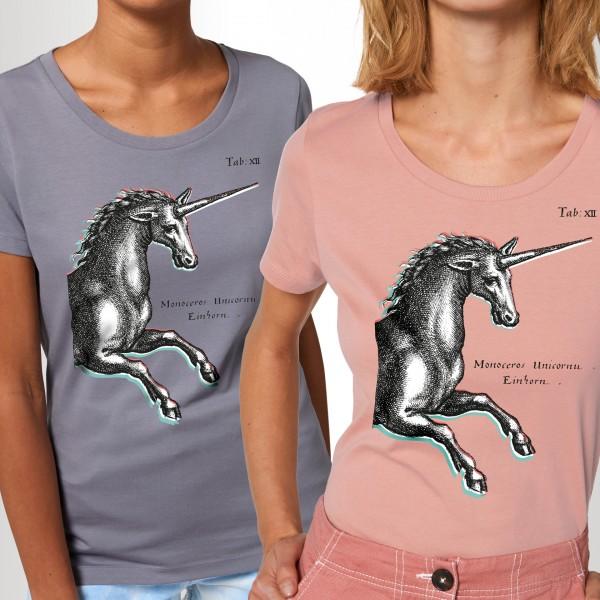 Damen-T-Shirt Einhorn