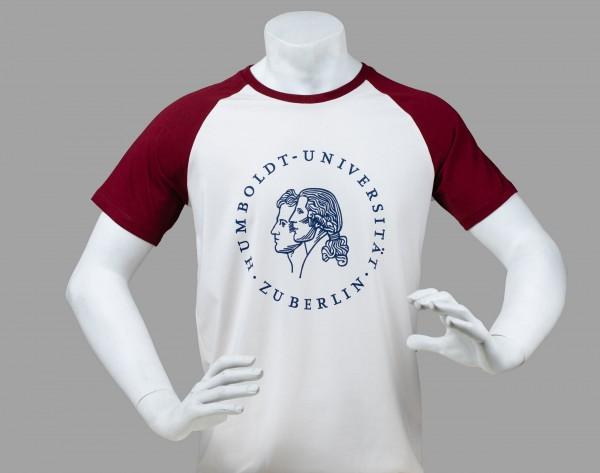 fe7c26657cd7 Baseball T-Shirt Siegel white burgundy   Herren Unisex   Kleidung ...