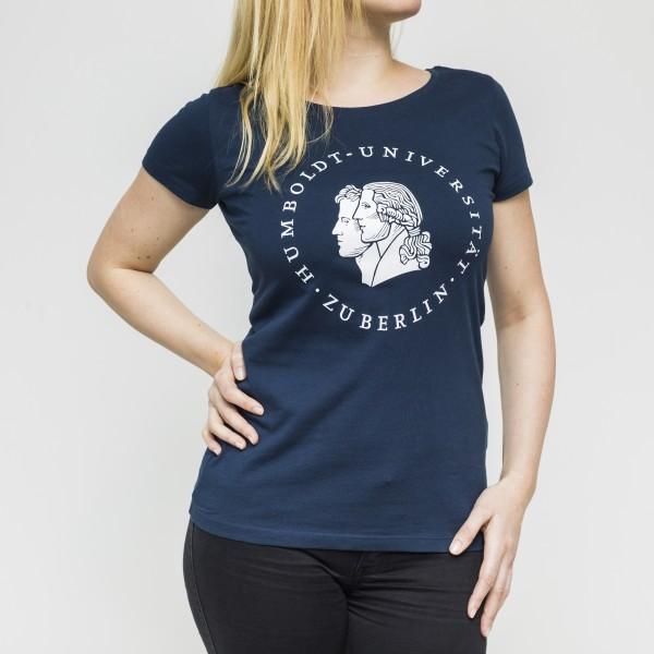 Damen-T-Shirt Siegel mit weißem Druck
