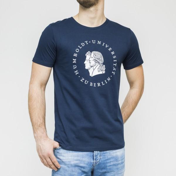 Herren-T-Shirt Siegel mit weißem Druck
