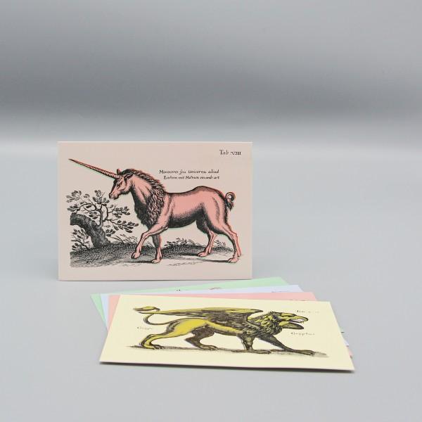 Postkarte Einhorn mit Mähne