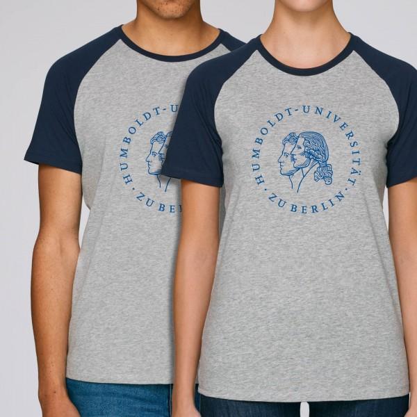 Baseball-T-Shirt Siegel heather grey/navy